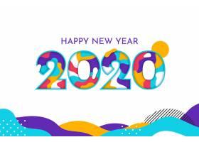 2020年新年背景平面设计_5939595