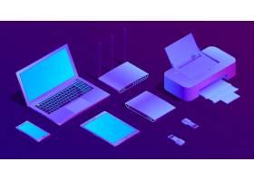 3D等距紫外线笔记本电脑打印机_3264652