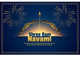 Shree ram Navami印度教节日卡片背景_7373299