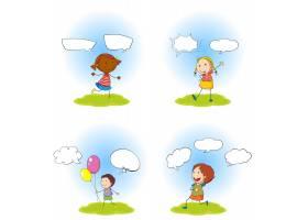 儿童和演讲泡泡集_4428270