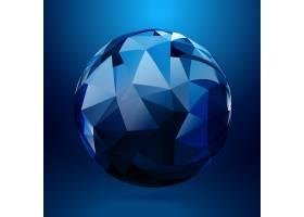 使用几何形状制作的3D球体_849174