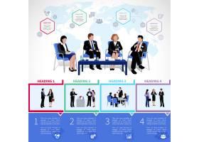 使用协作简报分析设置的会议人员信息图表_3861925