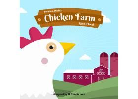 农场背景母鸡在平面设计中_1127764