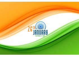 印度共和国国旗日快乐背景_6641763