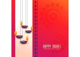 印度排灯节问候与悬挂Diya设计_3199140