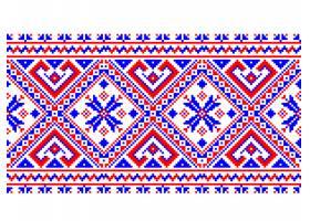 乌克兰民间无缝图案装饰矢量插图民族装饰_1283221