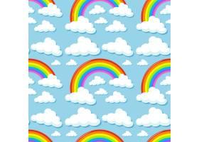 云彩彩虹天衣无缝的背景_1046925