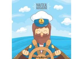 五颜六色的背景带着微笑的水手_996495
