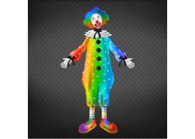 马戏团里的小丑被隔绝在透明背景上的派对_4758700