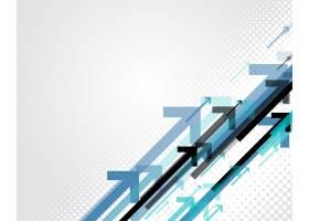 蓝色箭头商务风格背景_4952382