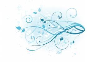 蓝色花卉背景设计_1130025