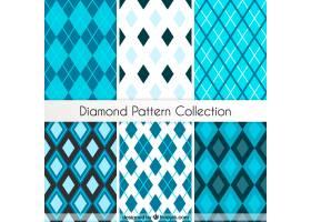 蓝色钻石图案系列_1080103