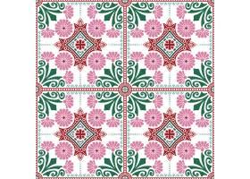 装饰瓷砖图案设计矢量插图_3044836