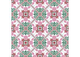 装饰瓷砖图案设计矢量插图_3044838