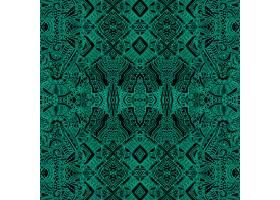 绿色背景带有阿兹特克形状_986055