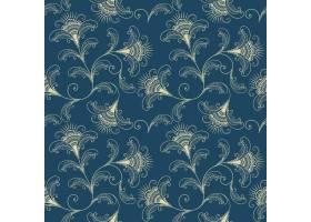 矢量花卉无缝图案背景背景纹理优雅古典_1283540