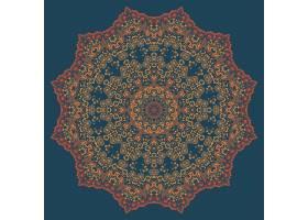 矢量装饰性圆形花边搭配锦缎和阿拉贝斯元_1283476