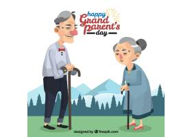 祖父母的风景背景_1207537