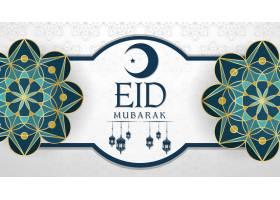 穆斯林节日开斋节穆巴拉克背景_7042463