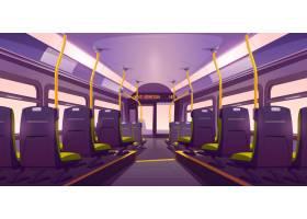 空荡荡的公交车或火车内部带椅子的后景_9292815