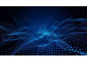 粒子技术蓝色景观数字背景_7887832
