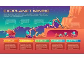 系外行星开采卡通背景元素为信息图时间_3264685