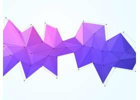 紫色低多边形黑色轮廓富有创意的抽象几_1149241
