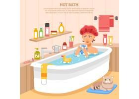热水浴海报_3813265