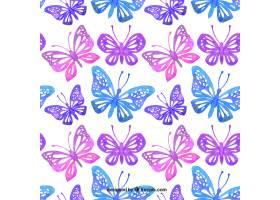 水彩装饰蝴蝶纹样_939121
