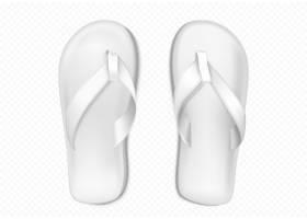 沙滩或游泳池用白色夏季橡胶拖鞋_9292876