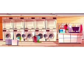 洗衣店内公众或自助洗衣店的插图_3519516