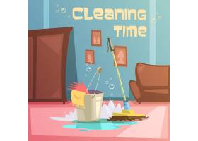 清洁服务卡通背景_3794920