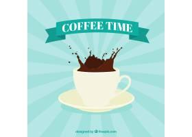 日落背景和一杯咖啡_1058078