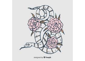 手绘花蛇插图_4369297