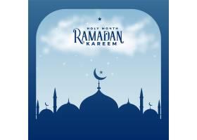 斋月卡里姆季伊斯兰清真寺背景_4249597