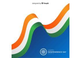 平坦的印度独立日背景_4714980