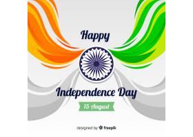 平坦的印度独立日背景_4795747