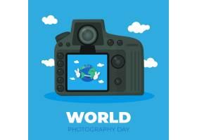平面设计世界摄影日背景_8987634