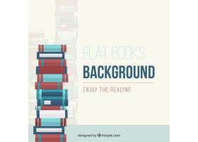 平面设计中的书堆背景_1040308