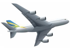 飞机在白色背景上飞行_3577441