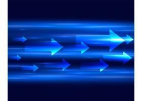 背景为向前移动的带有箭头的蓝色光条_4952380