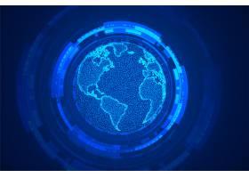 环球科技地球概念蓝色背景设计_9874055