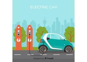 电动汽车背景_3515240