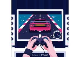 电脑游戏玩家的未来主义背景_4948641