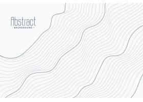 白色背景上的抽象轮廓线_4843094