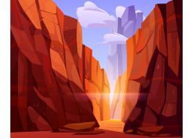 红山峡谷中的沙漠之路_9292871