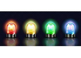 警报灯红色黄色或绿色和蓝色警报灯或警察_3266622