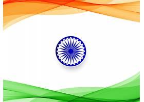 抽象的印度国旗波浪背景_5104872