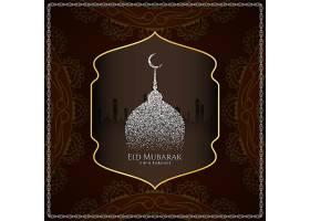 抽象的开斋节穆巴拉克优雅的伊斯兰背景_4662396
