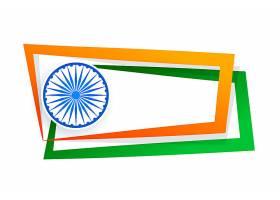 带文本空间的印度旗框_3682898